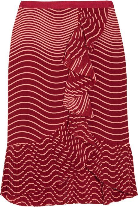 Tory Burch Opalina ruffled silk skirt