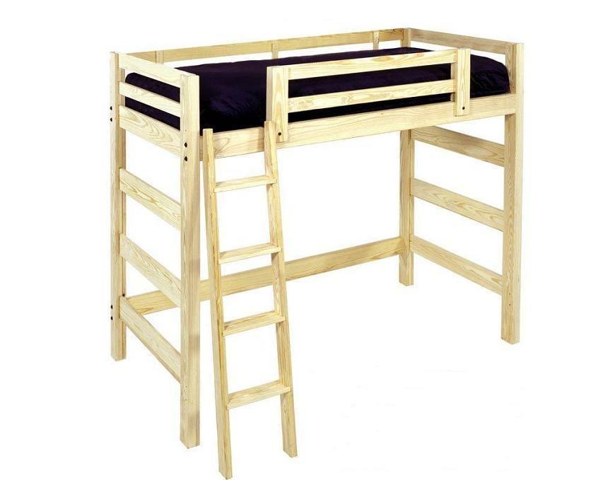 loft beds plans free | Loft Beds: Solid Unfinished Wood Freedom Loft ...