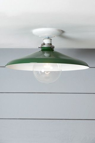 14in green metal shade farmhouse kitchen light semi flush mount industrial modern lighting