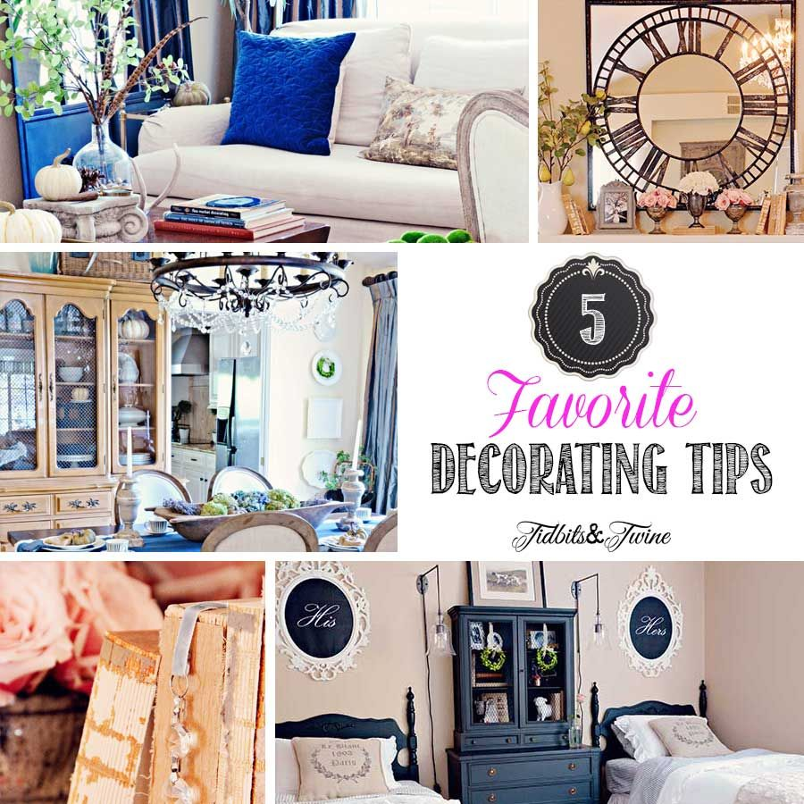 My 5 Favorite Decorating Tips | Twine, Decorating and Funky junk