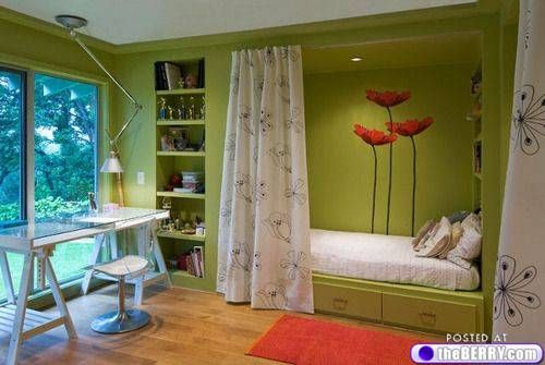 7 Inspiring Kid Room Color Options For Your Little Ones: Guest Room/office.... I Love That You Can Hide The Bed
