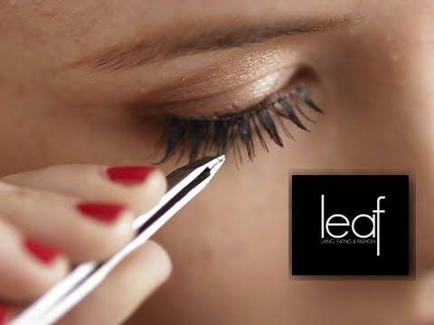 how to apply false eyelashes