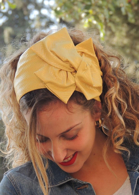 Sun Shines Yellow Headband Boutique Sara Attali Head Coverings
