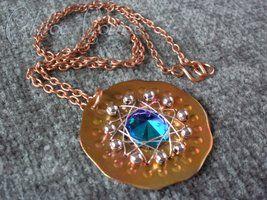 Swarovski Crystal Copper Pendant by ChloeLB