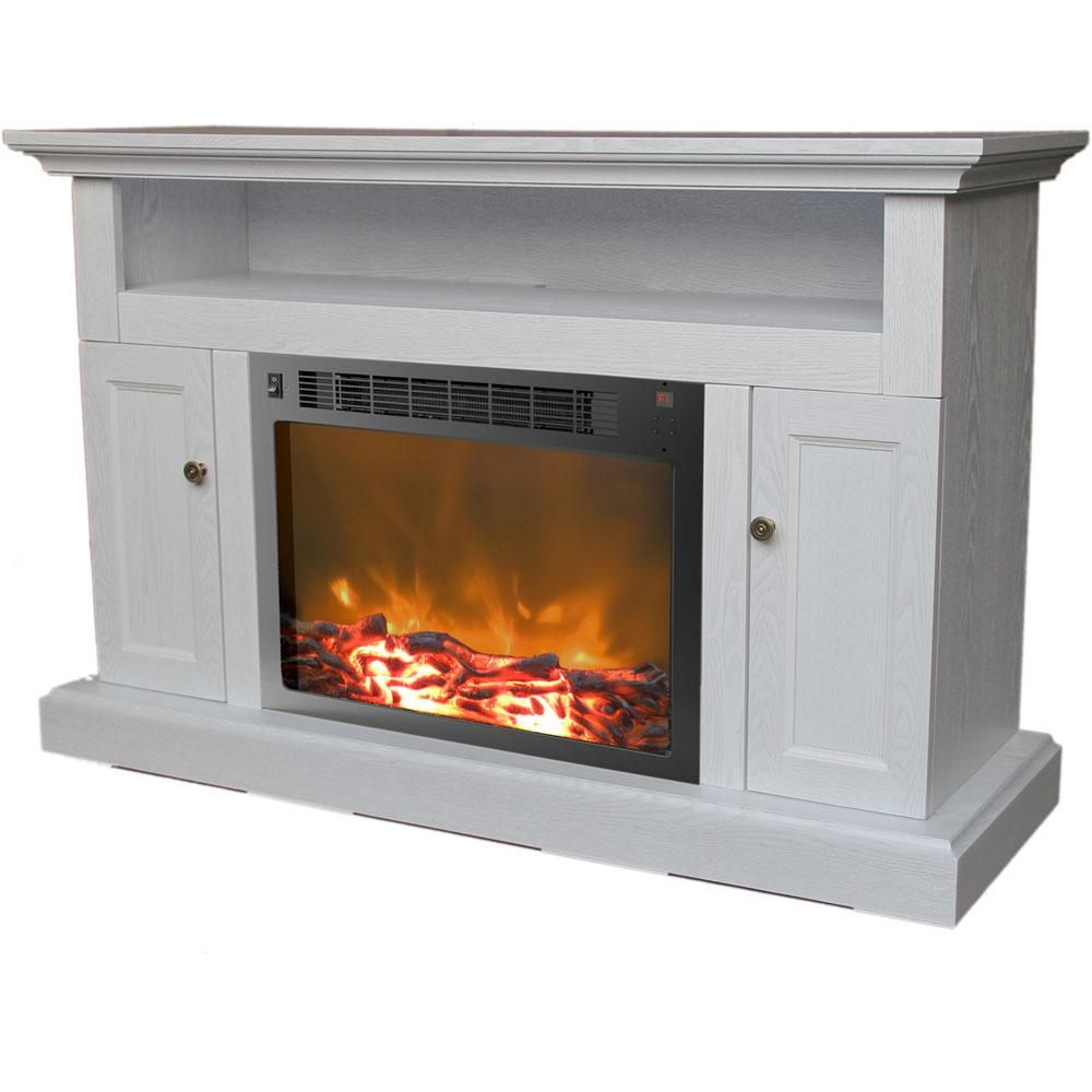 Cambridge Sorrento 47 In Electric Fireplace In White In 2019