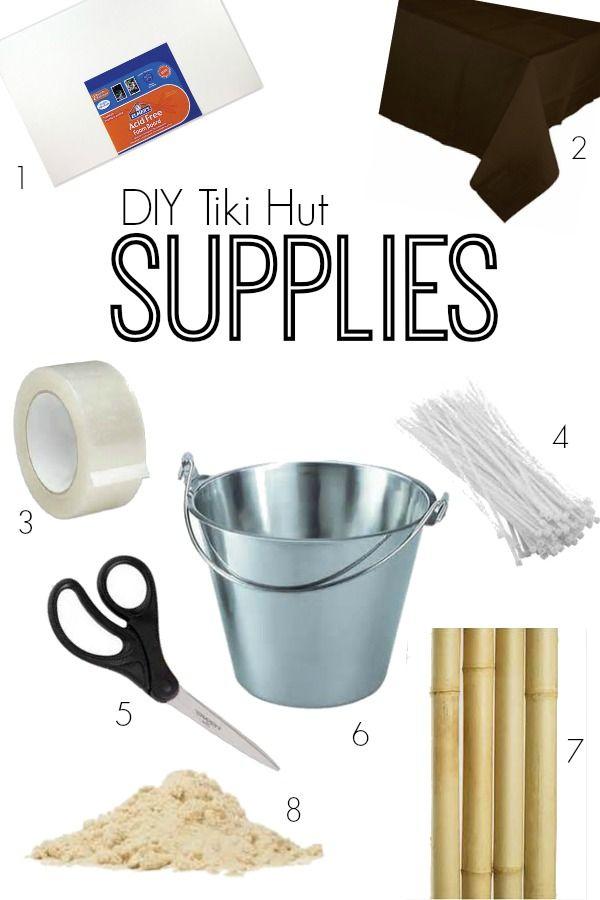 DIY Tiki Hut   Parties For Pennies