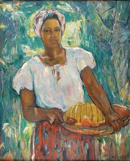 Baiana 1943 Henrique Cavalleiro Brasil 1892 1975 Female Art Art Painting