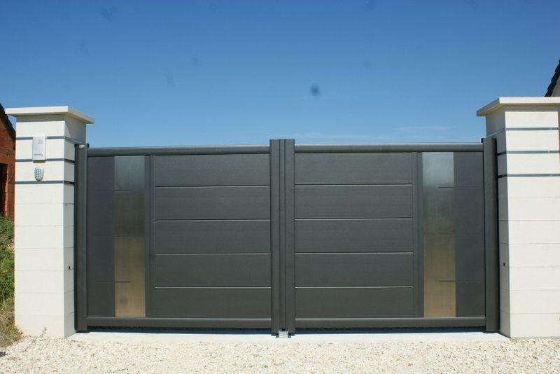 Portail coulissant en aluminium equinox c sib portail pinterest puertas puertas de - Portail coulissant de garage ...