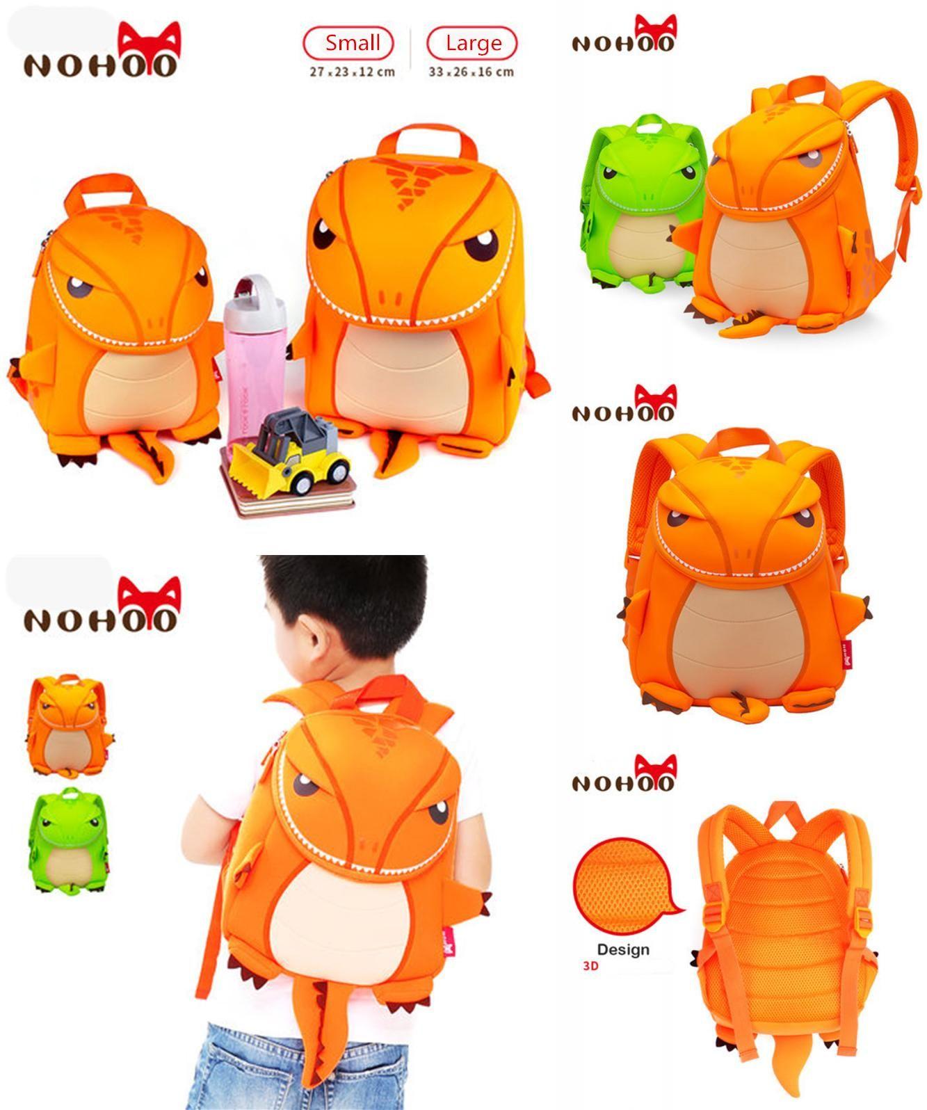7ad74b06e1  Visit to Buy  NOHOO Dragon 3D Animals Children School Bags Waterproof Cartoon  Kids Backpack