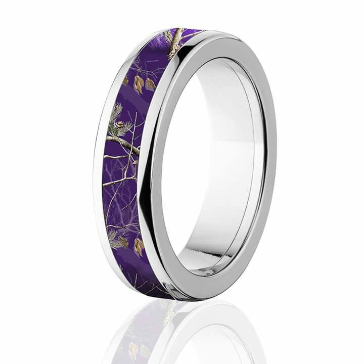 17++ Purple camo wedding ring sets information