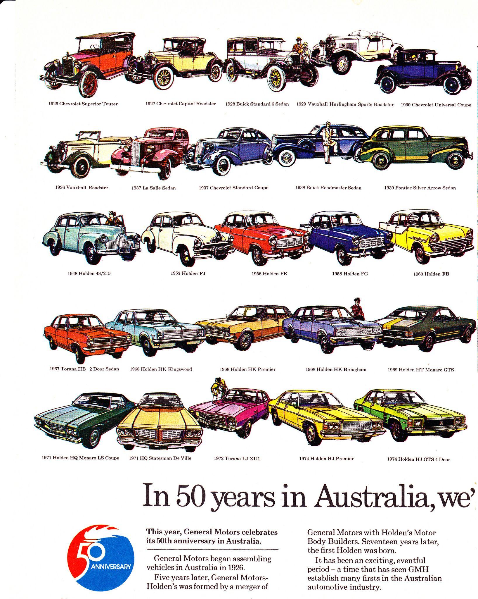 1976 Hx Lx Tx Holden General Motors 50 Years Page 1 Aussie Original Magazine Advertisement Holden Australia Australian Cars General Motors