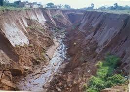 Resultado de imagem para fotos de erosão pluvial