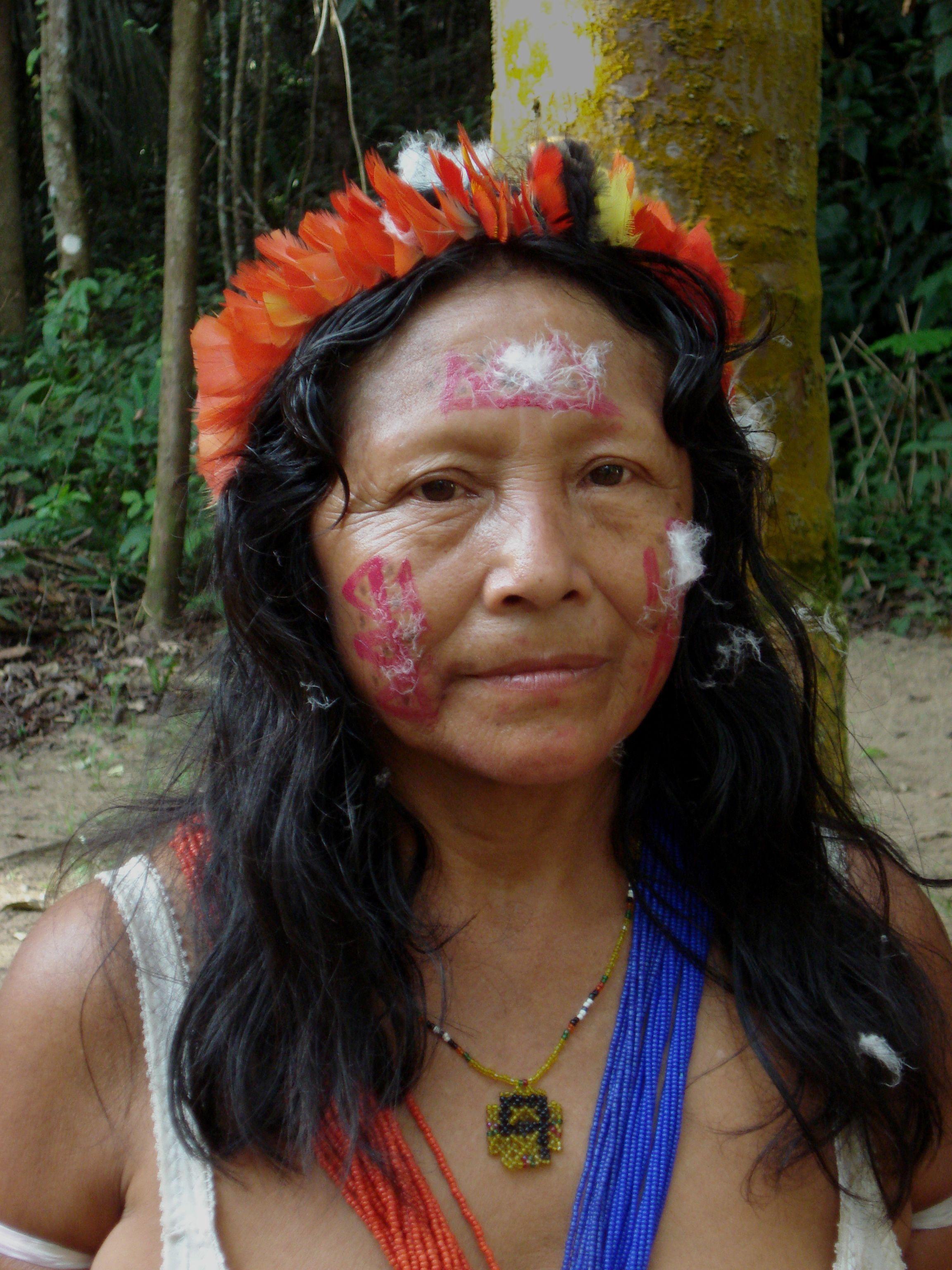 Indian girl at Bernharddorp Suriname.   arawak ingi ...   Arawak Indians Suriname South America