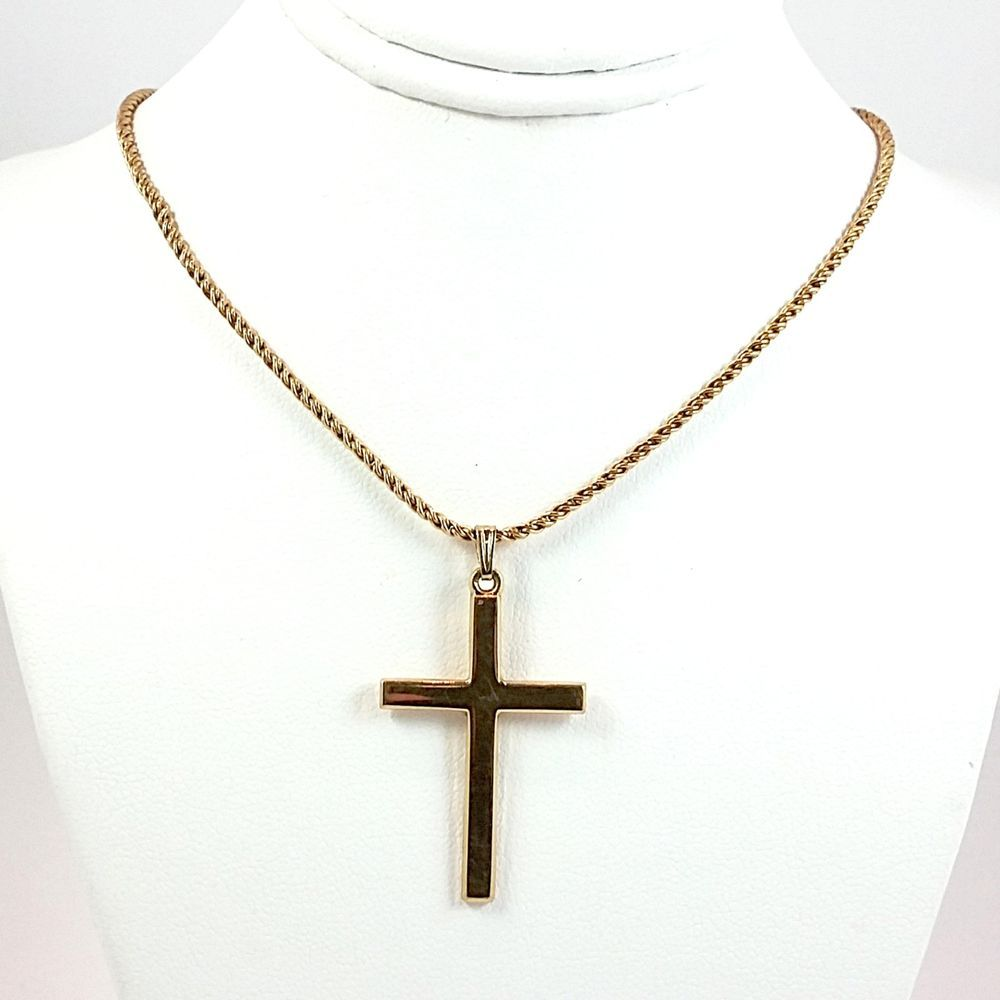 Cross Necklace Vintage Krementz Pendant 20