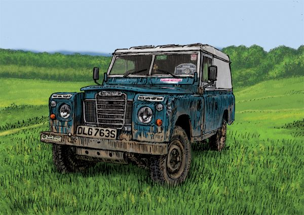Land Rover Series III at Eastnor