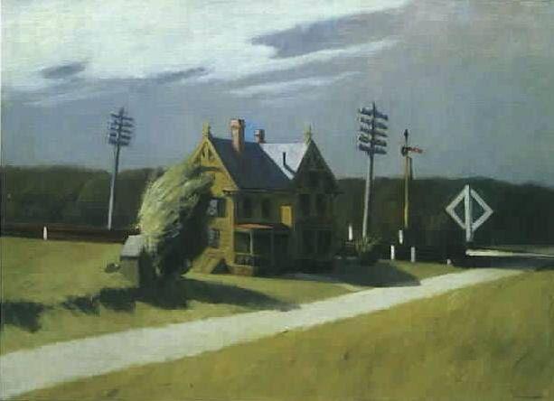 Edward Hopper - Railroad Crossing II