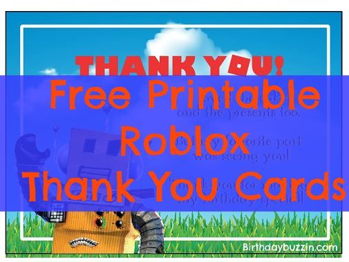 Free Printable Roblox thank You cards | Free printable ...
