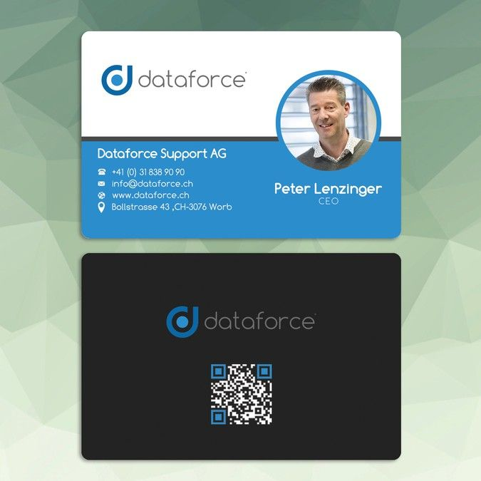 Business Cards For Swiss Software Development Company By Sun80 Company Business Cards Software Development Custom Business Cards