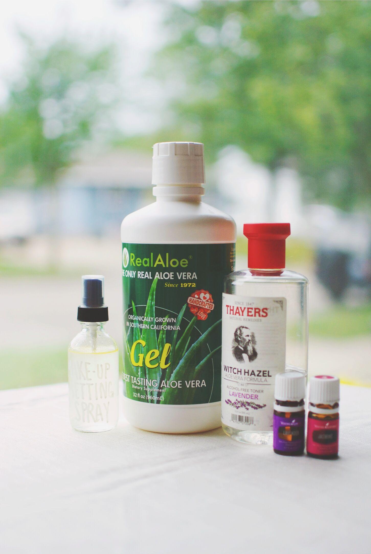 DIY jasmine makeup setting spray LENAELISE Lavender