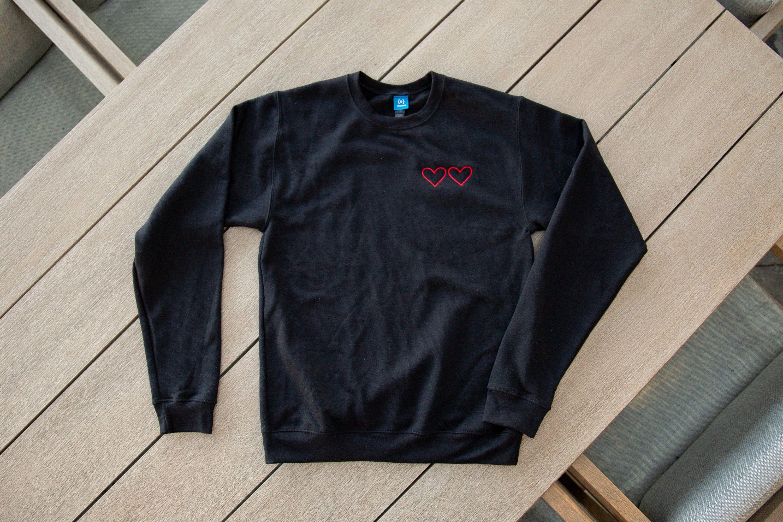 Embroidered Heart Sweatshirt Couples Crewnecks Etsy Heart Sweatshirt Embroidered Heart Sweatshirts [ 2000 x 3000 Pixel ]