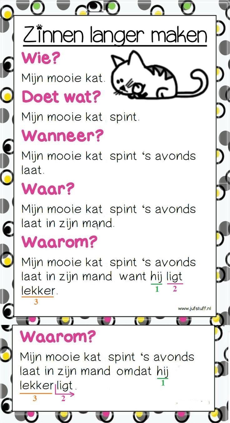 zinnen langer maken   zinsbouw met want en omdat