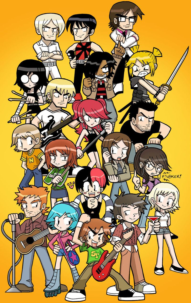Scott Pilgrim Vs The World By Sandikarakhim Deviantart Com On