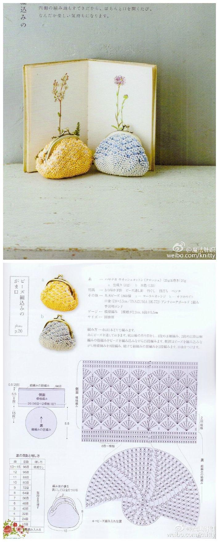 Pin de Piengjit Hru en Crochet Bag | Pinterest | Monederos, Bolsos y ...