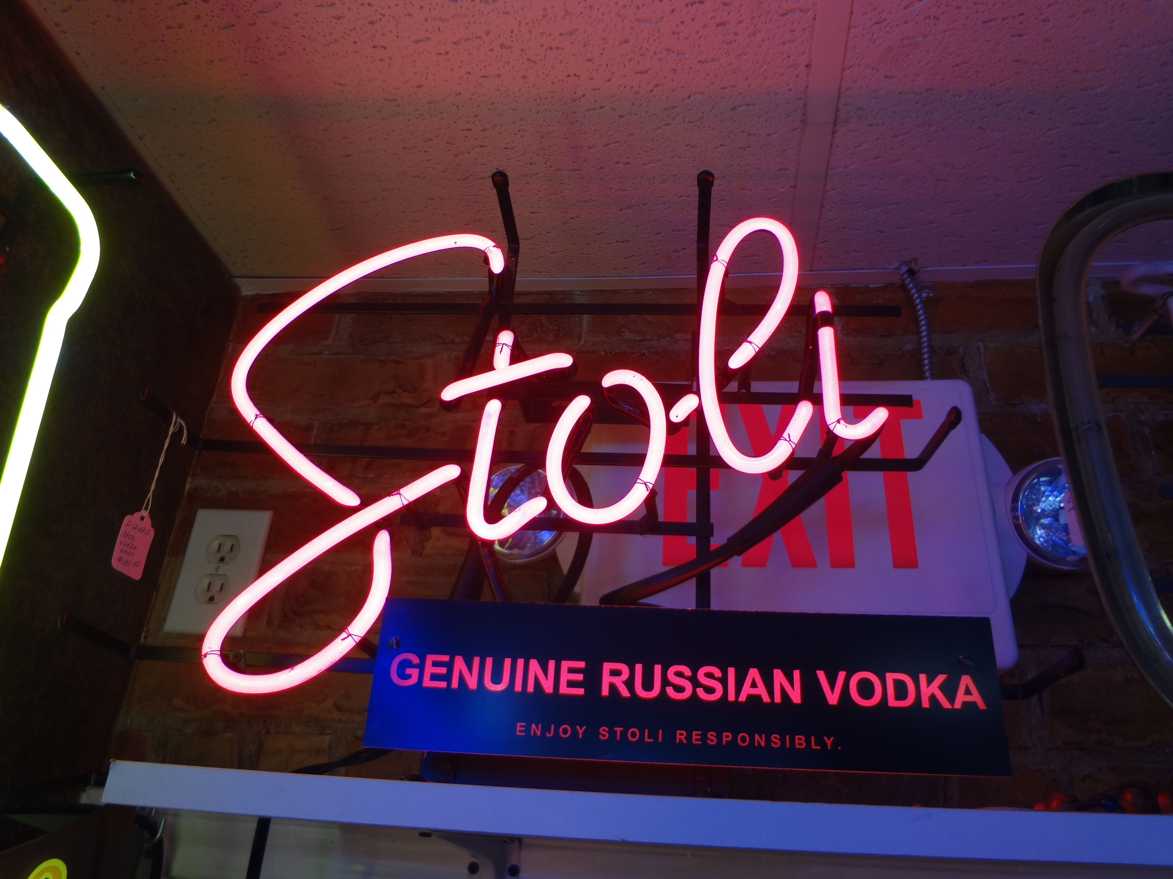 Man Cave Signs Melbourne : Vodka neon signs signage xstar collectables