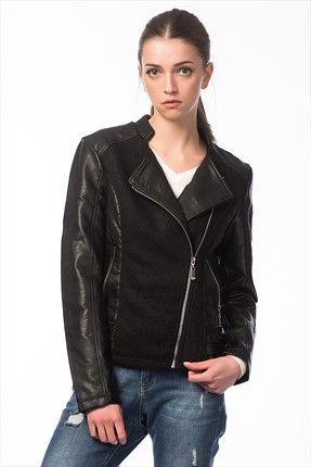 Koton Kadin Siyah Ceket Kadin Siyah Ceket Koton Kadin Http Www 1001stil Com Urun 5869239 Koton Kadin Fashion Leather Jacket Jackets