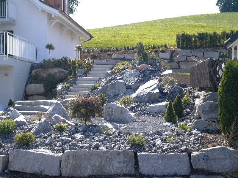Steiler hang hinter dem haus gestalten steingarten related keywords suggestions - Steingarten am hang ...