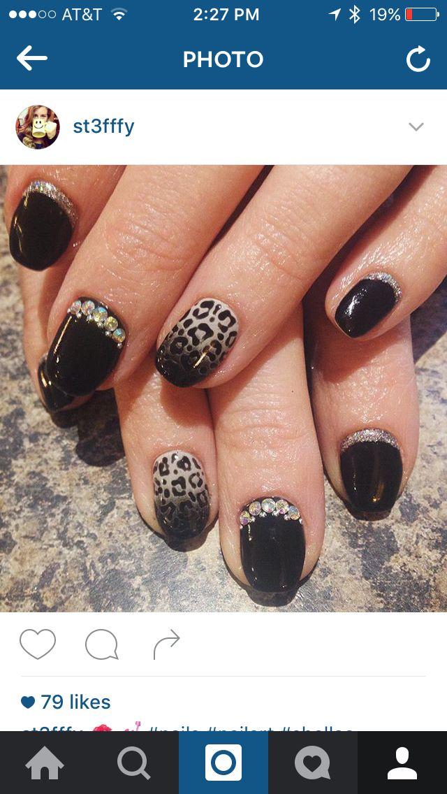 fierce black cheetah and bling