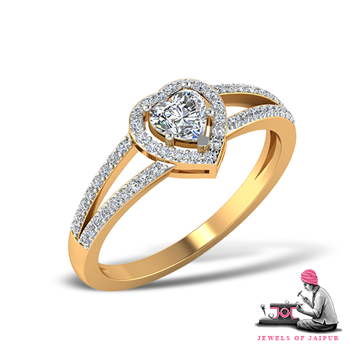 Make the moment last for eternity with this #HeartShaped #Ring!  #EngagementRing #Love #GoldRing #Occasion #Festival #Love #Handmade #Artisans