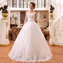 Vestido para casamento branco longo