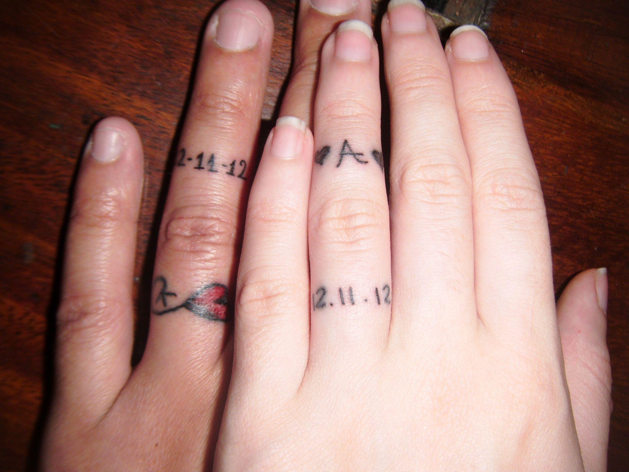 Wedding Ring Tattoo\'s   Wedding tattoos, Tattoo and Wedding ring tattoos