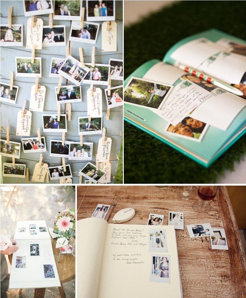 Un livre dor original  loption polaroid  Blog mariage