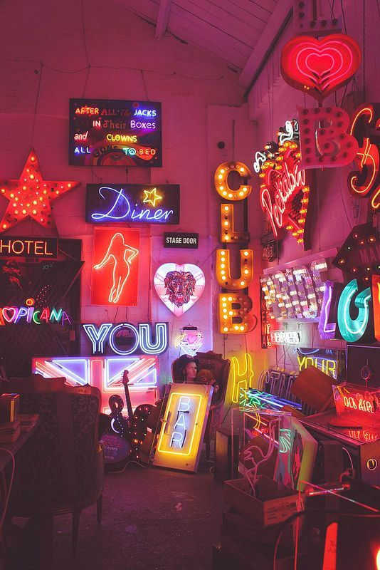 In The Style On Neon Signs Neon Neon Aesthetic