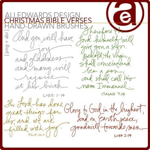 Christmas Bible Verses   Photoshop Brushes DesignerDigitals
