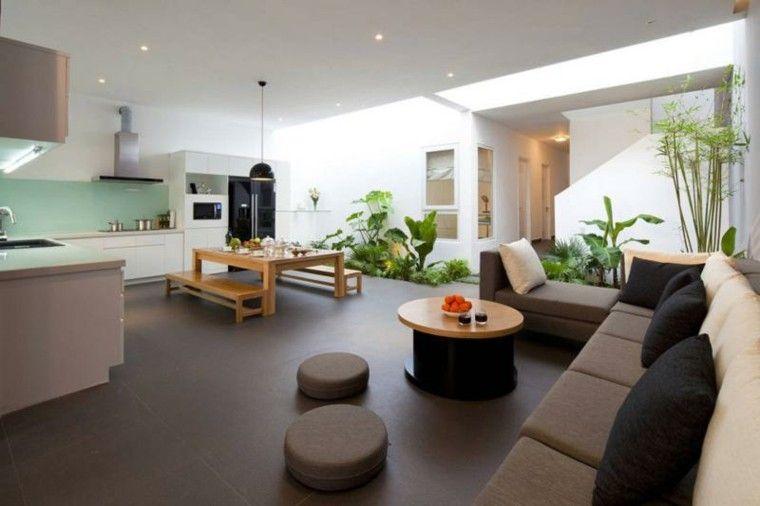 sala de estar con jardín