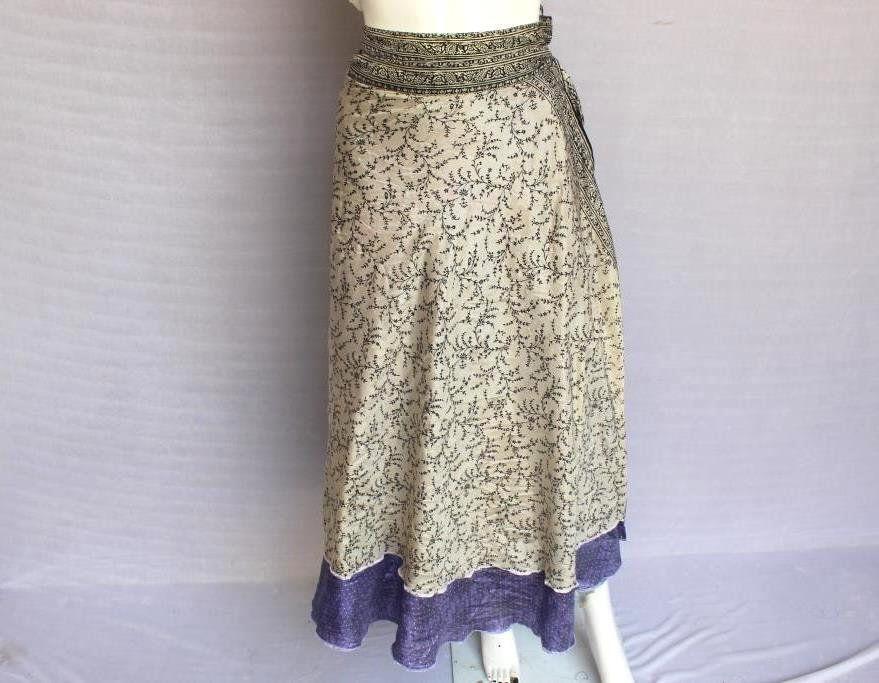 Gypsy long Wrap Skirt, Double Layer Skirt, Maxi Skirt, Wrap Skirt, Women Gypsy Skirt, Festival Flamenco Skirt, Bohemian Wrap Skirt STIC #327