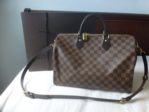 c4b950961214 Unboxing Louis Vuitton Speedy 35 Damier Ebene Bandouliere HD  bags  fashion