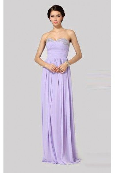 Light Purple BCBG Max Azria Strapless Sequin Long Prom Gown | 10 ...