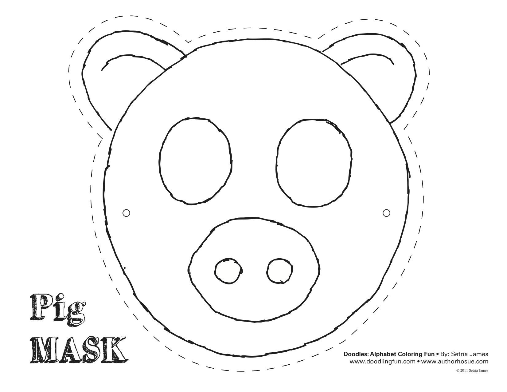 pig template for preschoolers - printable pig mask google search playgroup pinterest