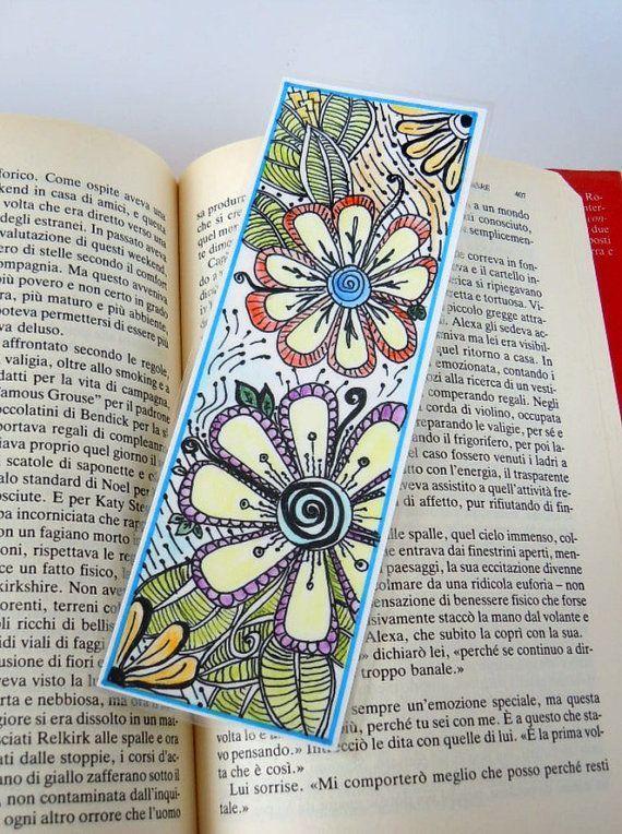Original Zendoodle Zentangle Art Bookmark Laminated Zentangle