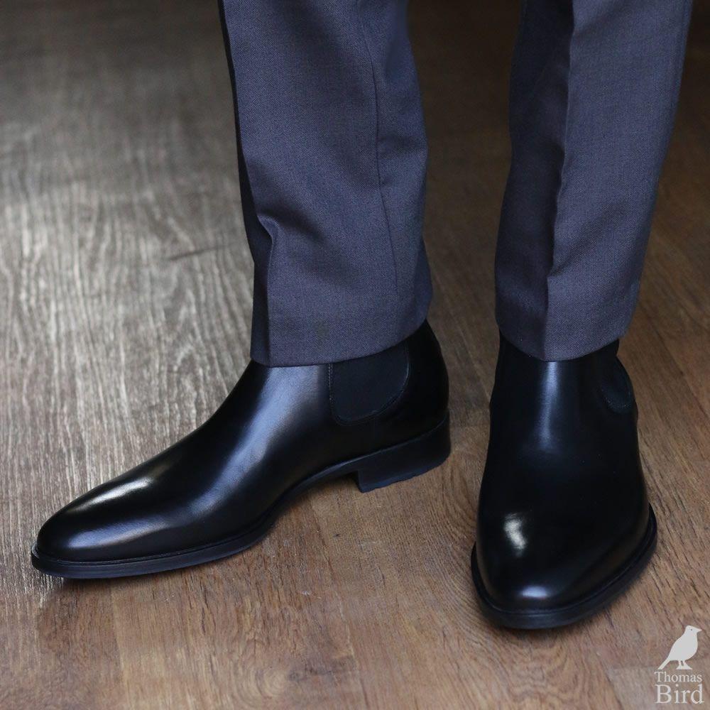 chelsea boots men trousers