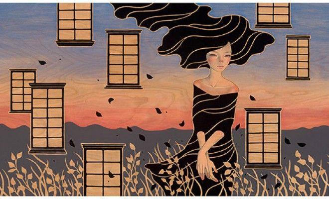 Art Nouveau y Manga japonés en la pintura de Audrey Kawasaki image 12