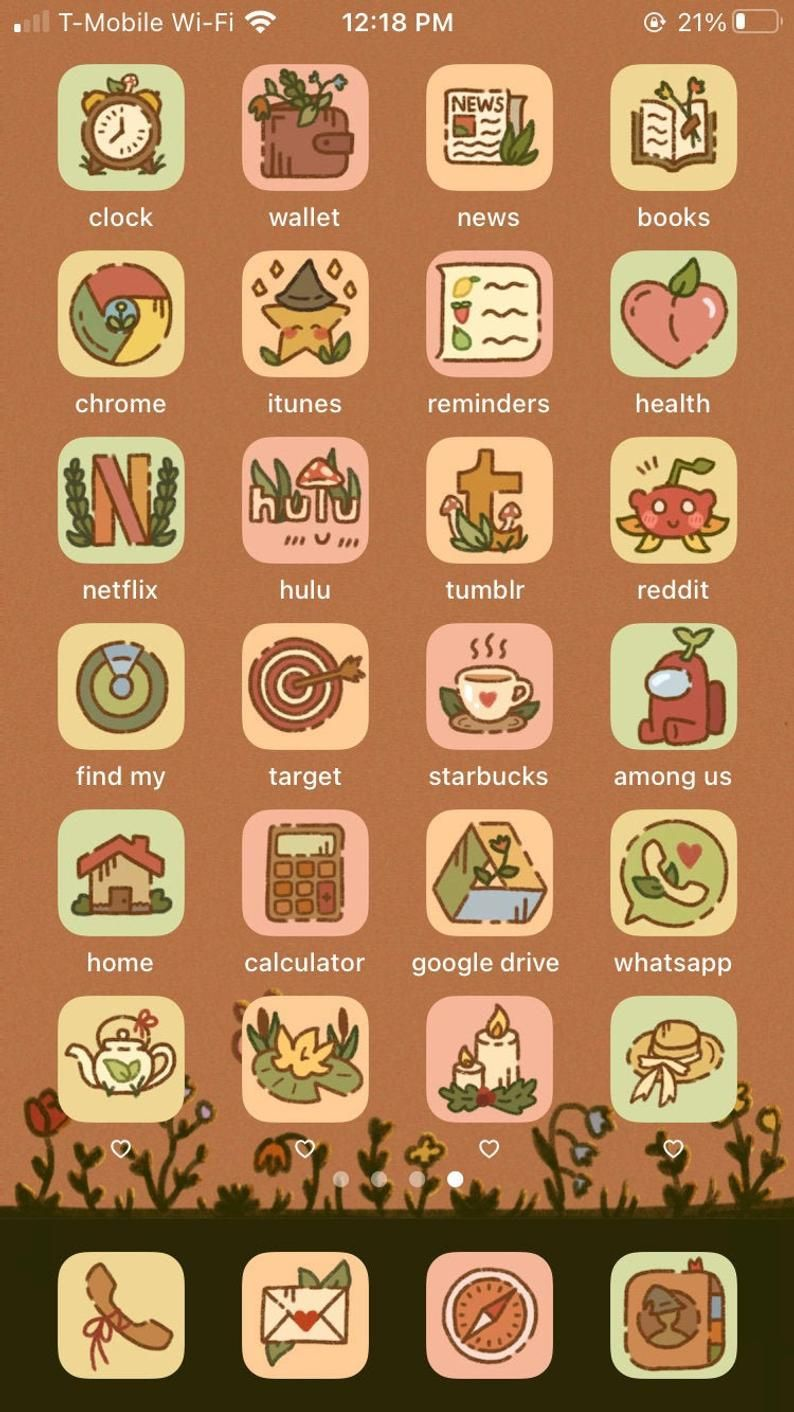 EXPANSION Cottagecore / Fall Aesthetic iPhone iOS