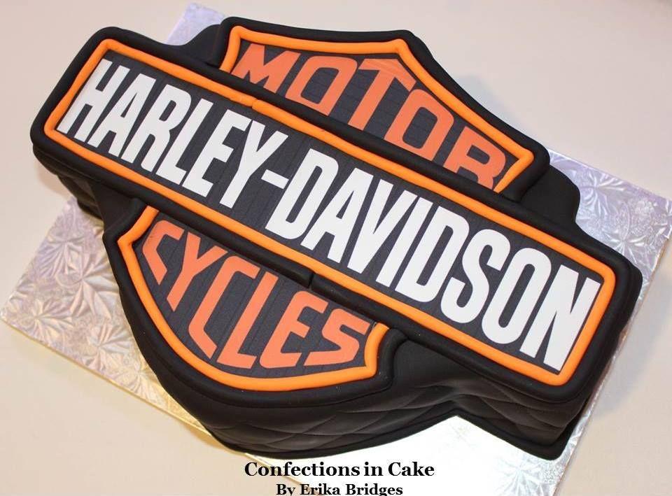 Harley Davidson logo grooms cake Grooms Cakes Pinterest