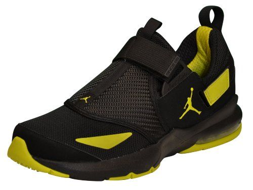 5df71293c2ce NIKE Men s Jordan Jumpman Trunner 11 LX Sneaker Shoes-Black Yellow Item  Features  Velcro closure Toe Ventilation Jumpman on sides Air Bubble in  heel ...