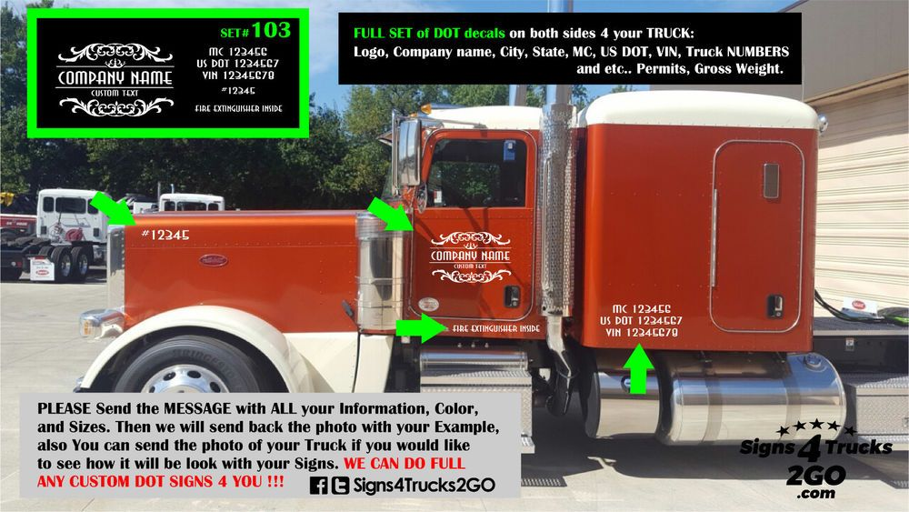 Custom Business Decal Set Van Truck Sides Rear Vinyl Decal Sticker Lettering