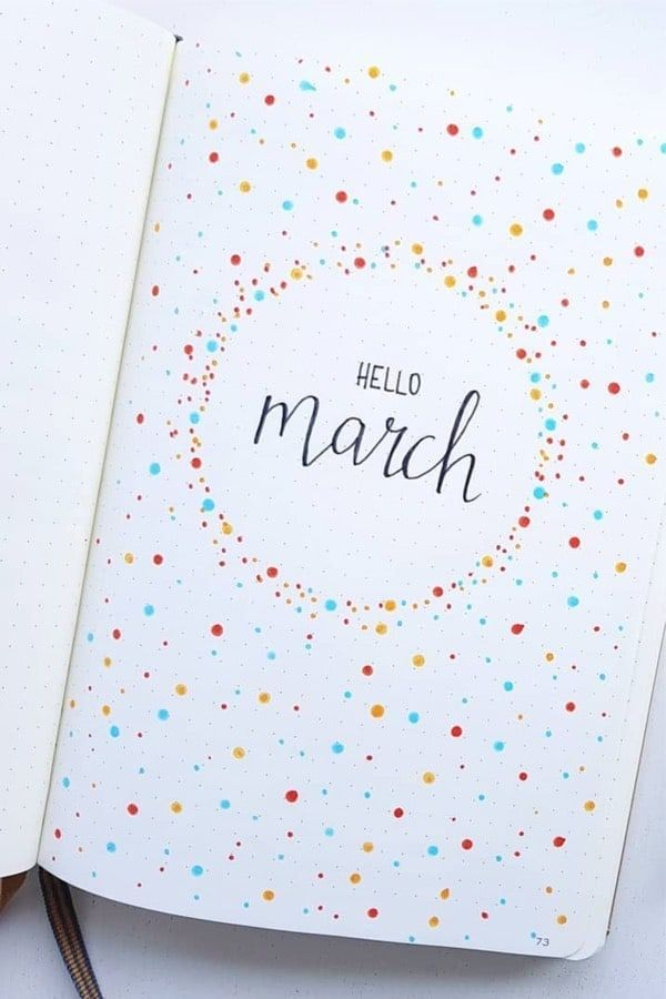 Spring is fast approaching so it's time to break out the floral colors and start doodling leaves, plants, and everything colorful. Here are 32 Best March Bullet Journal Cover Page Ideas to get you ready for Spring.